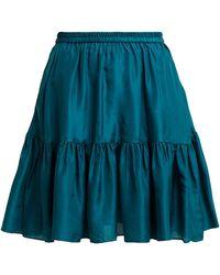 Loup Charmant - Pomona Ruffle Hem Silk Skirt - Lyst
