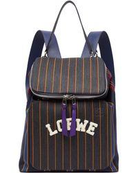 Loewe - Goya Varsity Backpack - Lyst