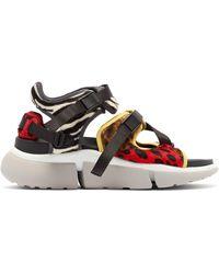 Chloé Sonnie Leopard-print Raised-sole Trainer Sandals - Multicolour