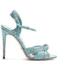 Gucci - Allie Floral-print Leather Sandals - Lyst