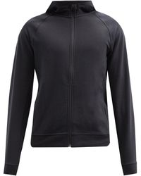 lululemon athletica City Sweat Zip-through Jersey Hooded Sweatshirt - Black