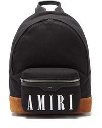 Amiri ロゴ キャンバスバックパック - ブラック