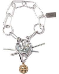 Chopova Lowena Upcycled Carabiner Pendant Necklace - Metallic