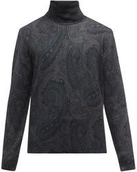Etro ペイズリー ウール タートルネックセーター - マルチカラー