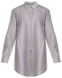 Beautiful Bottoms - Point-collar Striped Silk-crepe Shirtdress - Lyst