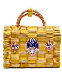Heimat Atlantica Tom Tom Medium Basket Bag - Yellow