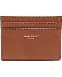 Saint Laurent - Leather Cardholder - Lyst