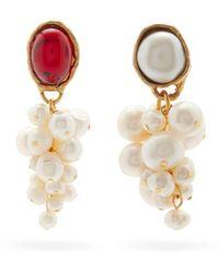 Anita Berisha Victorian Mismatched Baroque-pearl Earrings - Multicolour