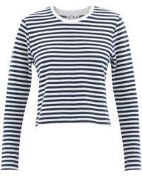 The Upside Beaumont Striped Cotton-blend Terry T-shirt - Blue