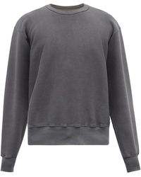 Les Tien Brushed-back Cotton Sweatshirt - Grey