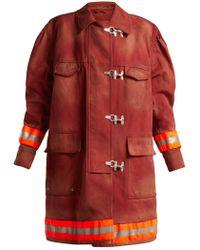 CALVIN KLEIN 205W39NYC - Oversized Cotton Twill Firefighter Coat - Lyst