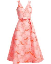 Vika Gazinskaya Lemon Jacquard Wrap Dress - Pink