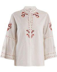 Vilshenko - Niamh Embroidered Cotton Blouse - Lyst