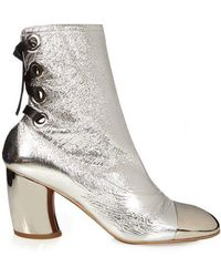 Proenza Schouler - Metallic Leather Ankle Boots - Lyst