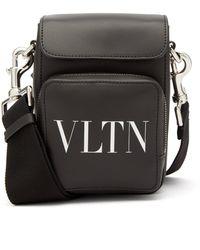 Valentino Garavani Vltn レザークロスボディバッグ - ブラック