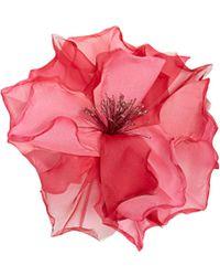 Racil Country Flower Silk-organza Brooch - Pink