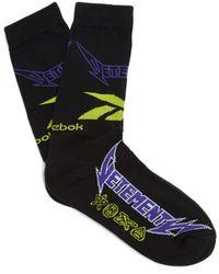 Vetements - Logo Colorblocked Cotton-blend Mid-calf Socks - Lyst