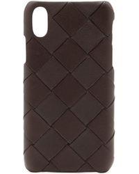 Bottega Veneta Iphone Xs イントレチャートレザーケース - ブラウン