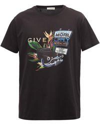 Givenchy T-shirt en jersey de coton à logo Motel Summer - Noir