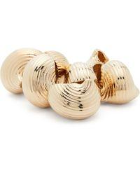 Jacquemus Bracelet chaîne à coquillages - Métallisé
