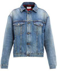 Maison Margiela Faded-denim Jacket - Blue