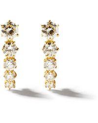 Jade Trau Boucles d'oreilles en or 18 carats et diamants Ara - Métallisé