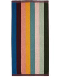 Paul Smith Artist-stripe Cotton-terry Beach Towel - Multicolour
