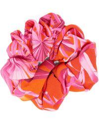 Versace - Jungle-print Crepe Hair Scrunchie - Lyst