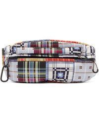 Ganni Patchwork-print Nylon Belt Bag - Blue