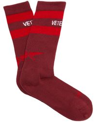 Vetements - X Reebok Classic Cotton Blend Socks - Lyst