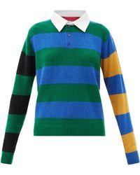 The Elder Statesman Striped Cashmere Rugby Jumper - Multicolour