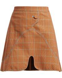 Ellery - Milky Way Check Mini Skirt - Lyst