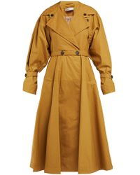 Palmer//Harding Double Breasted Cotton Trench Coat - Natural
