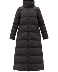 Moncler Goelo Long Hooded Down Coat - Black