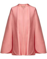 Alexander McQueen - Draped Wool And Cashmere-blend Cape - Lyst
