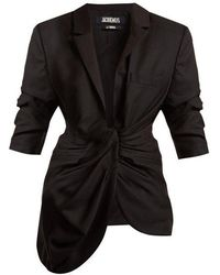 Jacquemus - Gathered-front Wool Jacket - Lyst