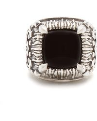 Emanuele Bicocchi - Onyx-embellished Sterling-silver Ring - Lyst