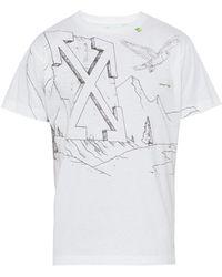 Off-White c/o Virgil Abloh - Sketch Print Cotton T Shirt - Lyst