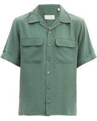 Equipment ショートスリーブ シルククレープシャツ - グリーン