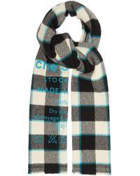 Acne Studios Écharpe en laine vierge à carreaux et logo Cassiar - Multicolore
