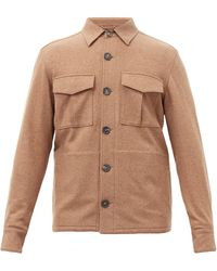 Thom Sweeney Wool-blend Overshirt - Multicolour