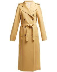 Khaite Felice Cotton Twill Trench Coat