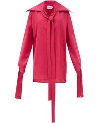 Charles Jeffrey LOVERBOY マギー セーラーカラー オーガニックコットンシャツ - レッド