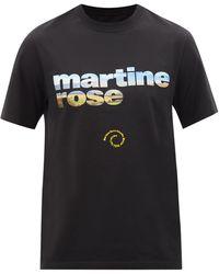 Martine Rose ロゴ コットンtシャツ - ブラック