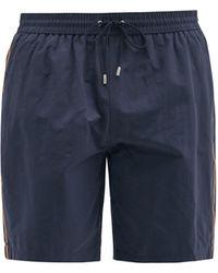 Paul Smith Side-stripe Swim Shorts - Blue