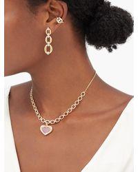 Nadine Aysoy Catena Diamond & 18kt Gold Ear Cuff - Metallic