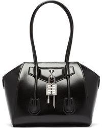Givenchy アンティゴナ ロック ミニ レザーバッグ - ブラック
