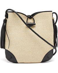 Isabel Marant Tyag Leather-trim Raffia Shoulder Bag - Multicolor