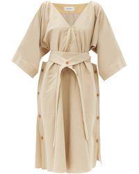 Lemaire - ベルテッド キャンバスドレス - Lyst