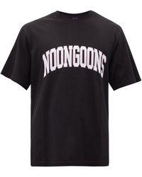 Noon Goons バーシティ コットンtシャツ - ブラック
